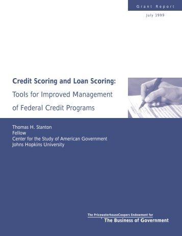 Credit Scoring and Loan Scoring - Thomas H. Stanton