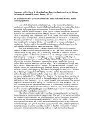 Comments of: Dr. David R. Klein, Professor ... - Wilderness Watch