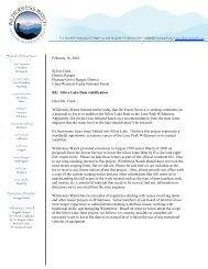 February 18, 2010 Sylvia Clark District Ranger ... - Wilderness Watch