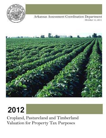 Cropland, Pastureland and Timberland ... - State of Arkansas