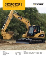 AEHQ5949, 312D/312D L Hydraulic Excavators Specalog