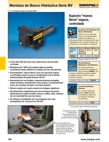 Mordaza de Banco Hidráulica Serie BV