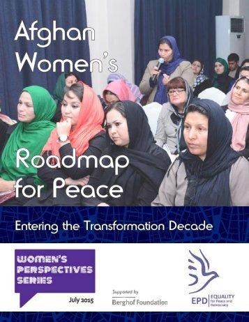 Afghan Women's Roadmap for Peace