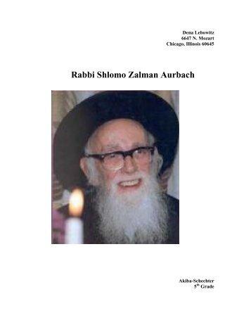 Rabbi Shlomo Zalman Aurbach