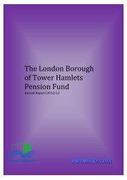 The London Borough of Tower Hamlets Pension Fund