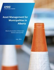 Asset Management for Municipalities in Alberta