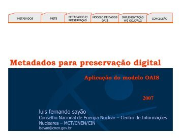 Metadados para preservação digital