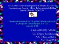 III Encontro Técnico dos Integrantes do Sistema ... - Arquivo Nacional