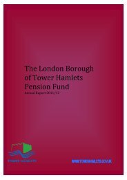 The London Borough of Tower Hamlets Pension Fund 2011/12 Contents