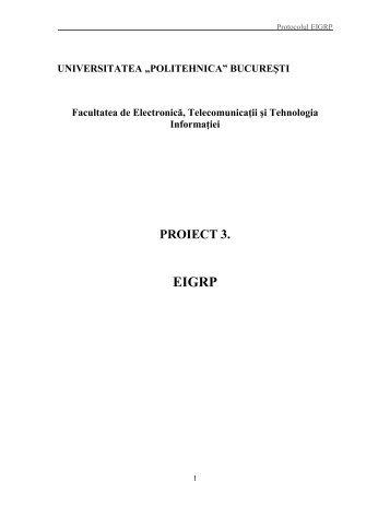 6. Protocolul EIGRP - Discipline