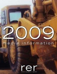 media information - Rental Equipment Register