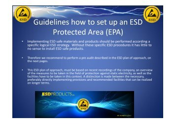 Guidelines how to set up an ESD Protected Area (EPA)