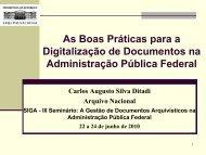 O que é a Digitalização - Arquivo Nacional