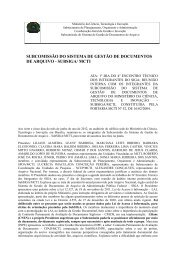 SUBCOMISSÃO DO SISTEMA DE GESTÃO DE DOCUMENTOS DE ARQUIVO - SUBSIGA/ MCTI