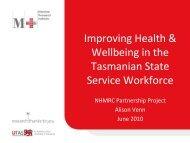 Tasmanian State Service Workforce