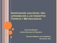 INVESTIGACIÓN CUALITATIVA UNA CONCEPTOS TEÓRICOS METODOLÓGICOS