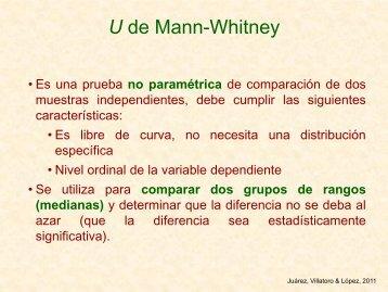 U de Mann-Whitney