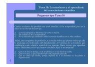 Preguntas tipo Tema 10 Tema 10: La enseñanza y el aprendizaje ...