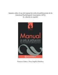 Apuntes sobre el uso del manual de estilo de publicaciones de la ...