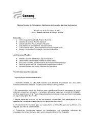 Câmara Técnica de Documentos Eletrônicos do Conselho Nacional ...