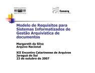 Apresentação sobre o e-ARQ - Câmara Técnica de Documentos ...