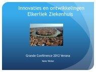 Innovaties en ontwikkelingen Elkerliek Ziekenhuis