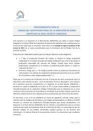 procedimiento para el visado del certificado final de la dirección de ...