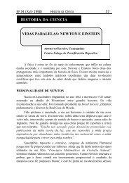 HISTORIA DA CIENCIA VIDAS PARALELAS NEWTON E EINSTEIN
