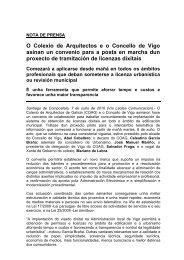 O Colexio de Arquitectos e o Concello de Vigo asinan un convenio ...