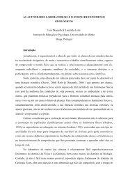 AS ACTIVIDADES LABORATORIAIS E O ENSINO DE ... - Enciga