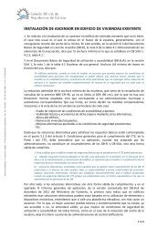 INSTALACIÓN DE ASCENSOR EN EDIFICIO DE VIVIENDAS EXISTENTE