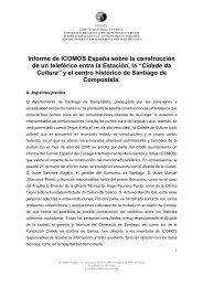 Informe de ICOMOS España sobre la construcción de un teleférico ...