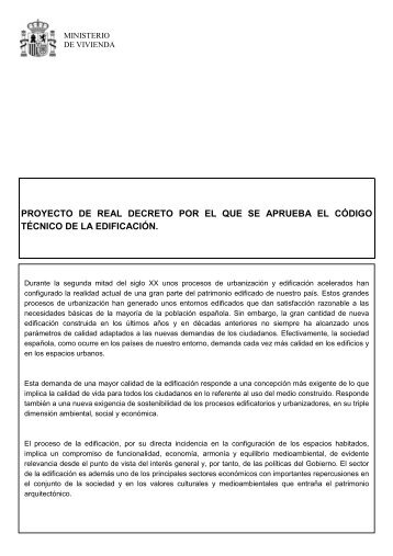 Real Decreto 314/2006 de 17 de Marzo por el que se aprueba el CTE