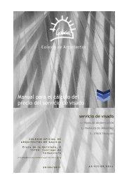 Manual para el cálculo del precio del servicio de visado