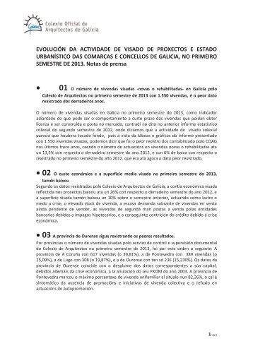 1º Semestre 2013 - Colexio Oficial de Arquitectos de Galicia