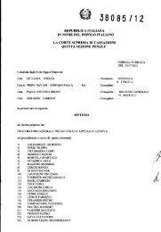 Corte di Cassazione – Sez. V Pen. - Sentenza 2