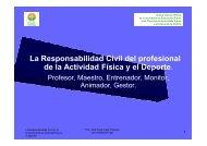 La Responsabilidad Civil del profesional de la ... - COLEF Galicia