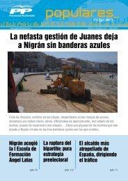 opulares popul La nefasta gestión de Juanes deja a Nigrán sin banderas azules
