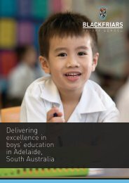 Delivering excellence in boys' education in Adelaide South Australia