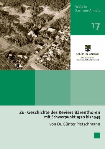 Zur Geschichte des Reviers Bärenthoren mit Schwerpunkt 1920 bis ...