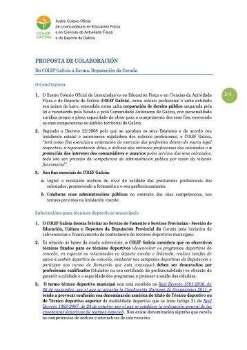 PROPOSTA DE COLABORACIÓN