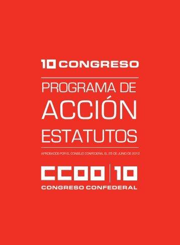 Programa de Acción y Estatutos - CCOO