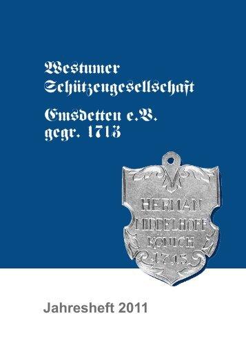 jahresheft 2011 als pdf - Westumer Schützengesellschaft