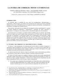 LA FUERZA DE CORIOLIS MITOS Y EVIDENCIAS