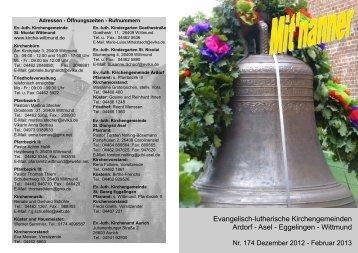 Gottesdienste in Asel - Ev.-luth. Kirchengemeinde St.-Nicolai Wittmund