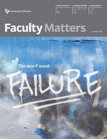 newsadvancements and initiatives - Faculty Matters
