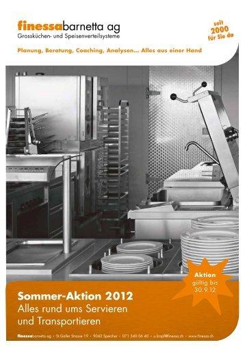 Sommer-Aktion 2012 Alles rund ums Servieren und Transportieren