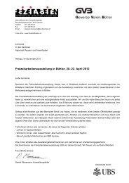 Bühler, 20.-22. April 2012 Organisation und Termine - Freizeitarbeiten