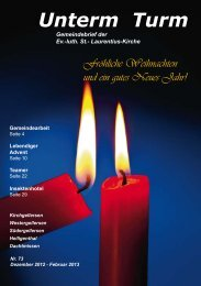 Unterm Turm 73 (2,16 MB) - Kirche Kirchgellersen