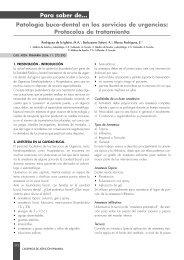 Patología buco-dental en los servicios de urgencias - Asociación ...